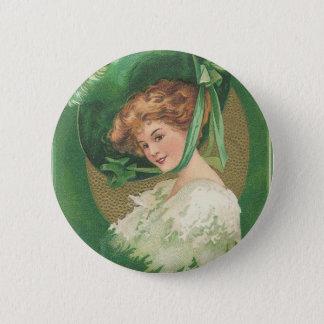 Vintage St Patricks Day Button