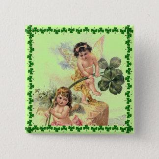 Vintage St. Patrick's Day Cherubs Pin
