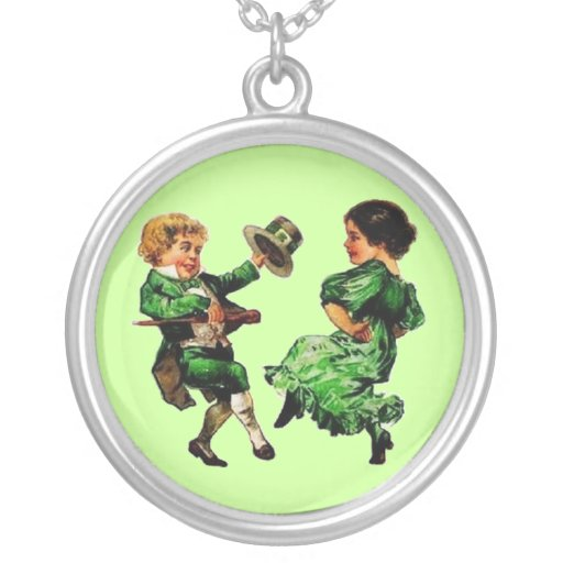 Vintage St. Patrick's Day Couple Dancing Jewelry