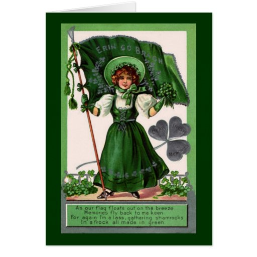 Vintage St. Patrick's Day Erin Go Bragh Greeting Card