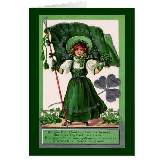 Vintage St. Patrick's Day Erin Go Bragh Card