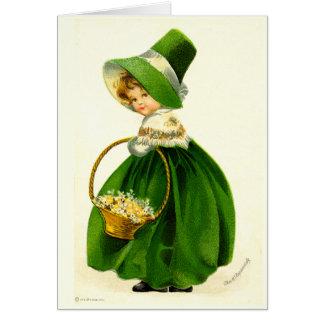 Vintage St. Patrick's Day Girl Card