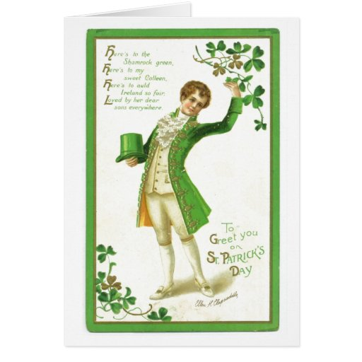 Vintage ST. Patricks Day Greeting Card