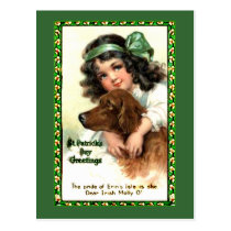 Vintage St Patricks Day Greeting Card Products Postcard