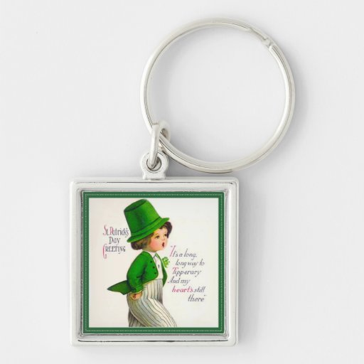 Vintage St. Patrick's Day Greeting Key Chains