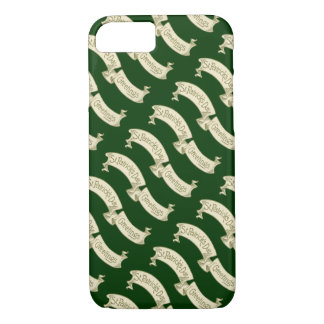 Vintage St. Patrick's Day Greetings Golden Banner iPhone 7 Case
