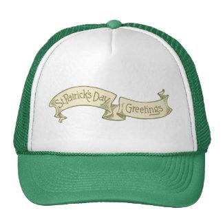 Vintage St. Patrick's Day Greetings Golden Banner Trucker Hat