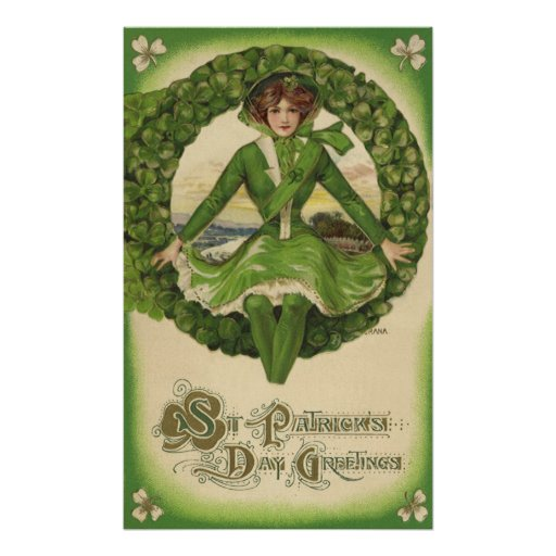 Vintage St. Patrick's Day Greetings Posters