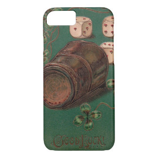 Vintage St. Patrick's Day Irish Good Luck Dice iPhone 7 Case
