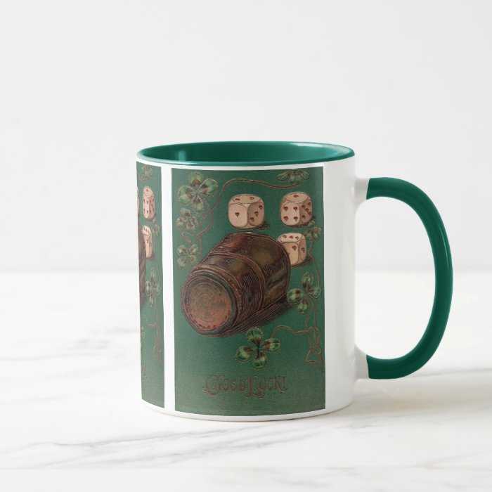 Vintage St. Patrick's Day Irish Good Luck Dice Mug