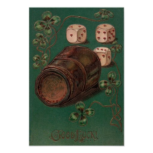 Vintage St. Patrick's Day Irish Good Luck Dice Posters
