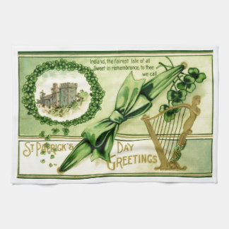 Vintage St. Patrick's Day Kitchen Towel