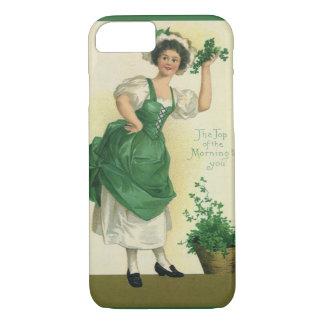Vintage St. Patrick's Day Lass, Lucky Shamrocks iPhone 7 Case