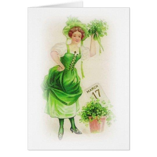 Vintage St. Patricks Day March 17 Card