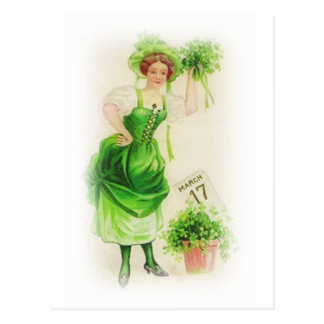 Vintage St. Patricks Day March 17 Postcard
