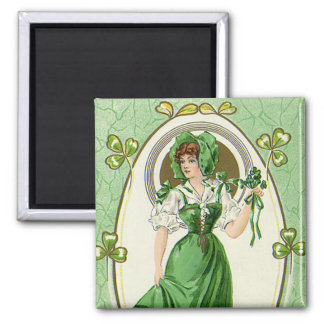 Vintage St. Patrick's Day, My Pretty Irish Colleen Magnet