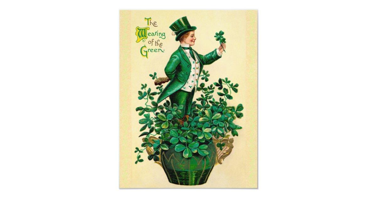 Vintage St. Patrick\'s Day Party Invitations! Card   Zazzle.com