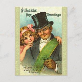 Vintage St. Patrick's Day Postcards postcard