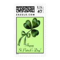 Vintage St. Patrick's Day Shamrock Postage