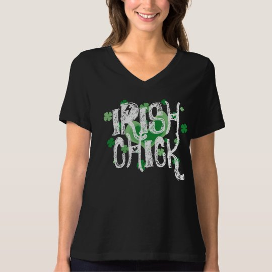 Vintage St Patrick's Day shirt |  Irish chick