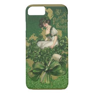 Vintage St. Patrick's Day Souvenir, Irish Lass iPhone 8/7 Case