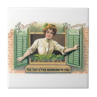 Vintage St. Patrick's Day Tile
