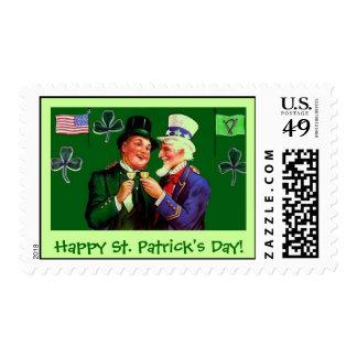 Vintage St. Patrick's Day Uncle Sam Postage Stamp