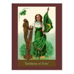 Vintage St. Patrick's Emblens of Erin Post Card