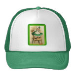 Vintage St. Patrick's Girl Wearing Green Trucker Hats