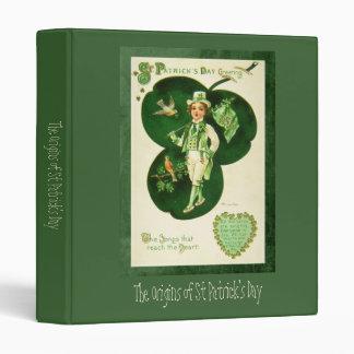 Vintage St Patrick's Greeting 3 Ring Binder
