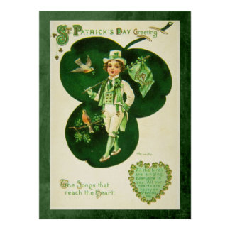 Vintage St Patrick's Greeting Posters