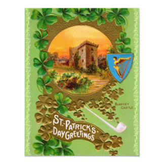 Vintage St. Patty's Day Party Invitations! Card