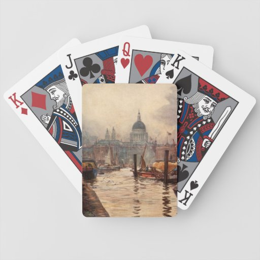 Vintage St. Paul's Cathedral Thames London England Card Deck