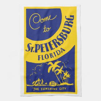 Vintage St. Petersburg Florida Kitchen Towel