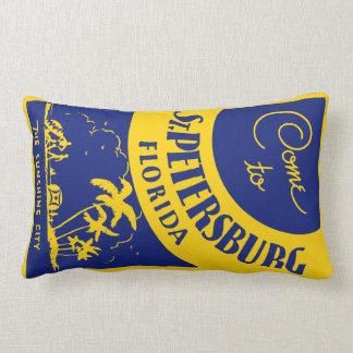 Vintage St. Petersburg Florida Lumbar Pillow
