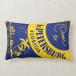 Vintage St. Petersburg Florida Throw Pillow