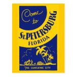 Vintage St Petersburg la Florida Postal