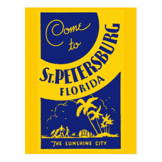 Vintage St Petersburg la Florida Postales