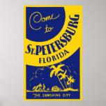 Vintage St Petersburg la Florida Posters