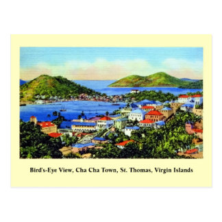 Vintage St. Thomas Virgin Islands Post Card