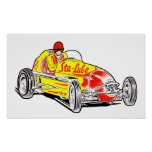 Vintage Sta-Lube Racing Logo Poster