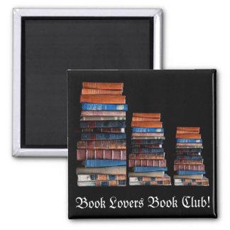 VIntage Stack of Old Books 2 Inch Square Magnet