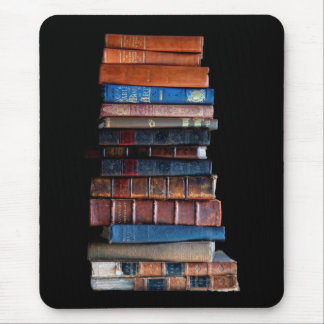 VIntage Stack of Old Books Mouse Pad