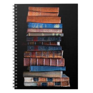 VIntage Stack of Old Books Spiral Notebook