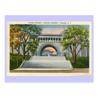 Vintage Stadium Entrance Syracuse University Post Cards