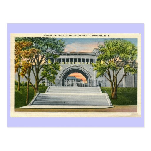 Vintage Stadium Entrance Syracuse University Post Cards