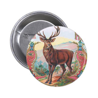Vintage Stag Button