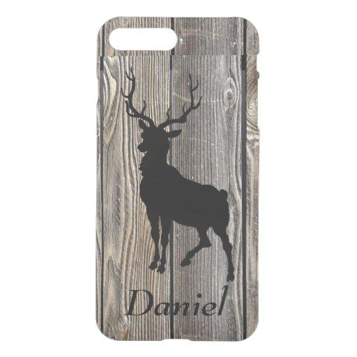Vintage Stag Deer Personalized Wood iPhone 6 Case