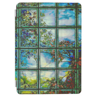 Vintage Stained Glass Scenic Window iPad Air Cover