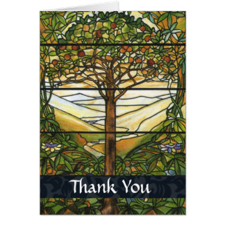Vintage Stained Glass Thank You Card